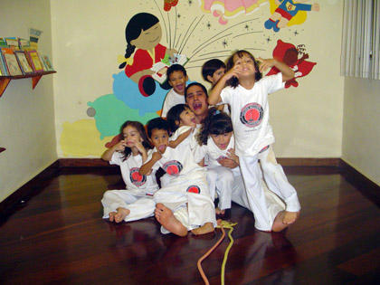 Instrutor Fábio - Alunos Educação Infantil - Rio de Janeiro - 2007